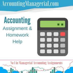 Accounting Assignment & Homework Help