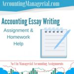 Accounting Essay Writing