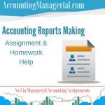 Accounting Reports Making