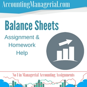 Balance Sheets Assignment & Homework Help