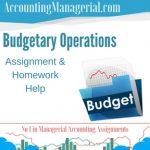 Budgetary Operations