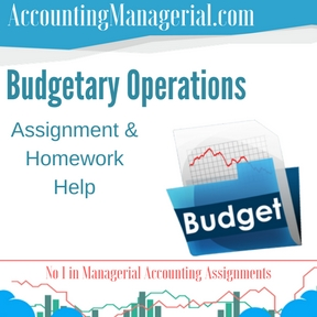 Budgetary Operations Assignment & Homework Help