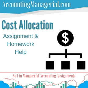 Cost Allocation Assignment & Homework Help