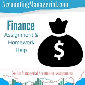 Finance Assignment & Homework Help