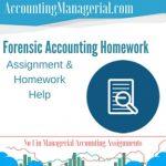 Forensic Accounting Homework