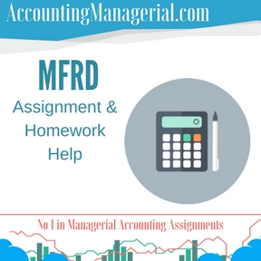 MFRD Assignment & Homework Help