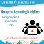 Managerial Accounting Disciplines