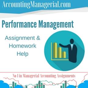 Performance Management Assignment & Homework Help