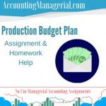 Production Budget Plan