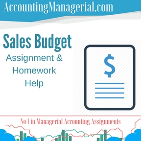 Sales Budget Assignment & Homework Help